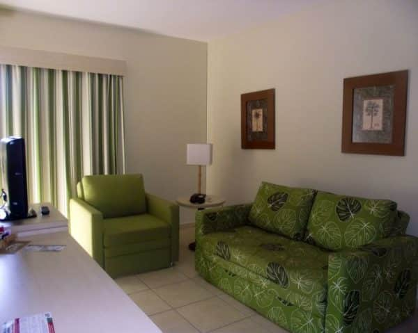 A sala com sofá cama