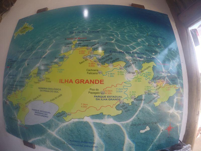 mapa ilha grande