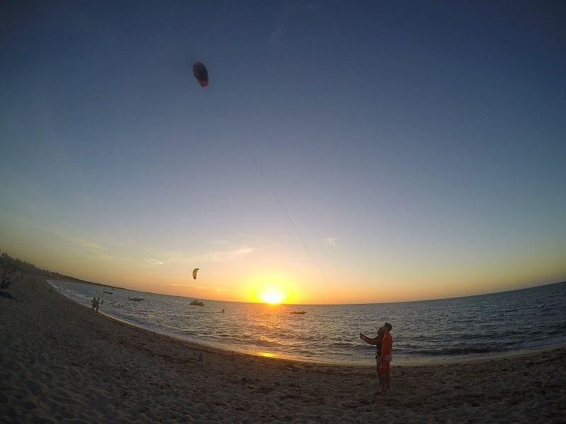 Kiteboarding e o curso básico na BGKite School da Pousada BGK 9