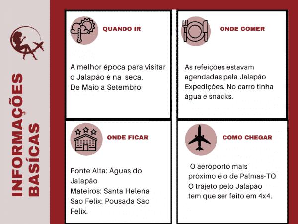 informações básicas do jalapão